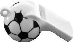 Píšťalky umelohmotné Football (120ks)