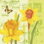 Servítky 33x33cm/3vrst. Spring Signs (20ks)