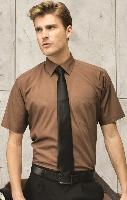 Pánska popelínová košeľa s krátkym rukávom PREMIER
