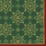 Ubrousky 33x33cm/3vrst. Xmas Deco green (250ks) AKCE