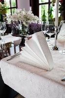 Luxusná šerpa Téte 0,45x24m Sensia biela s trblietkami