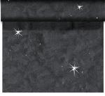 Luxusná šerpa Téte 0,45x24m Sensia čierna s trblietkami AKCIA