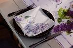 Hodvábne obrúsky Dunisoft 40x40cm Sweet Butterfly lilac (12ks)