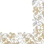 Hodvábne obrúsky Dunisoft 40x40cm Festiva white (60ks)