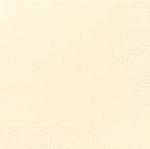 Ubrousky 33cm/2vrst. vanilkové (125ks)