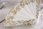 Luxusní ubrousky 40x40cm Festiva white (50ks)
