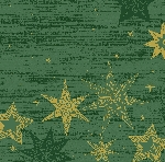 Hodvábne obrúsky Dunisoft 40x40cm Star Stories green (60ks)