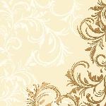 Luxusné obrúsky 40x40cm Grace cream (12ks)