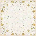 Obrus z netkanej textílie 84x84cm Shining Star cream (zvlášť balený) AKCIA