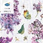 Servítky 33x33cm/3vrst. Sweet Butterfly lilac (20ks)