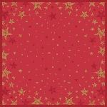 Ubrus z netkané textilie 84x84cm Shining Star red (zvlášť balený)