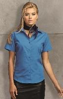 Dámska popelínová košeľa s krátkym rukávom PREMIER