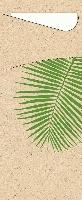 Púzdro na príbor Leaf s bielou servítkou 8,5x19cm (500ks) - vyrobené z trávy
