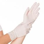 Rukavice nitrilové pudrové bílé, velikost S (100ks)