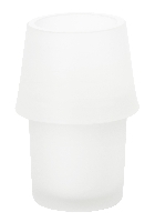 Svícen ze skla Urban bílý, 135x90mm (6ks)
