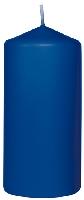 Svíčka válec 10x5cm tmavě modrý AKCE