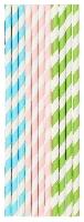 Papierové slamky Pastels, dĺžka 20cm (500ks)