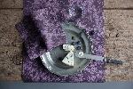 Luxusní ubrousky 40x40cm Venezia plum (12ks)