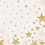 Hedvábné ubrousky Dunisoft 40x40cm Shining Star cream (12ks)