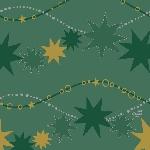 Servítka 33cm/3vrst. Dancing Stars green (1ks) AKCIA