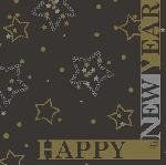 Ubrousek 33cm/3vrst. Happy New Year (1ks) AKCE