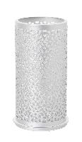 Kovový svietnik Bliss strieborný 140x75mm (4ks)