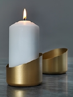 Exkluzivní kovový svícen Frans - zlatý, 70x85mm (4ks)