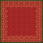 Obrus z netkanej textílie 84x84cm Xmas Deco red (100ks)