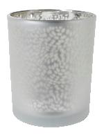 Sklenený svietnik Arctic strieborný 7x6cm